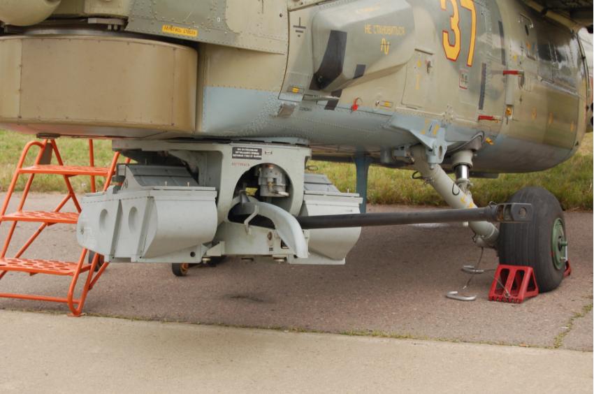 Avtomatski top 2А42 kalibra 30 mm na ruskem helikopterju Mi-28N