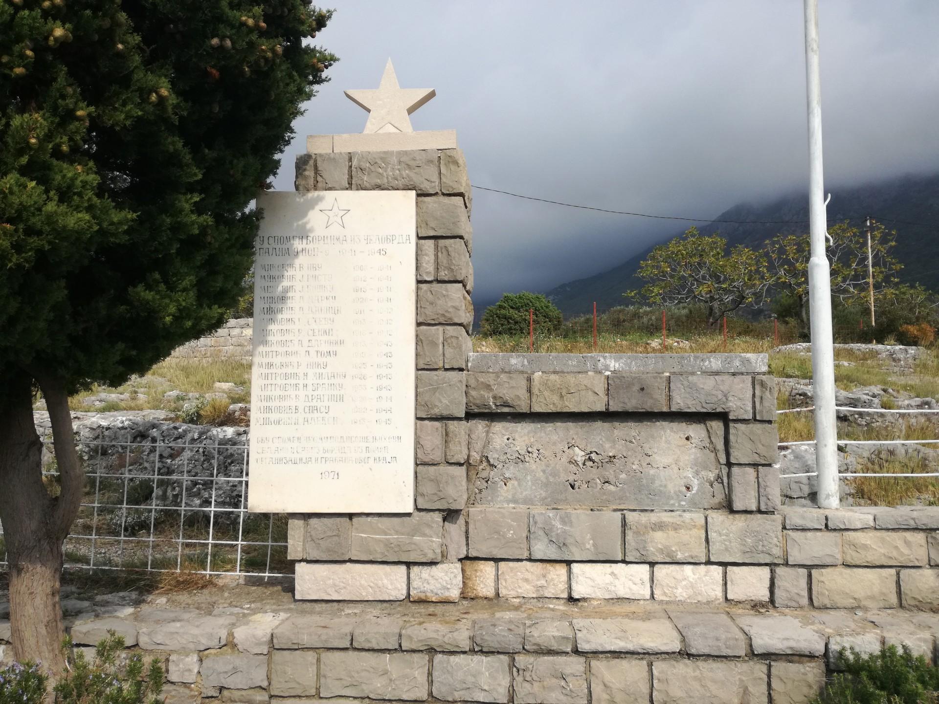 Споменик палим борцима из Другог светског рата