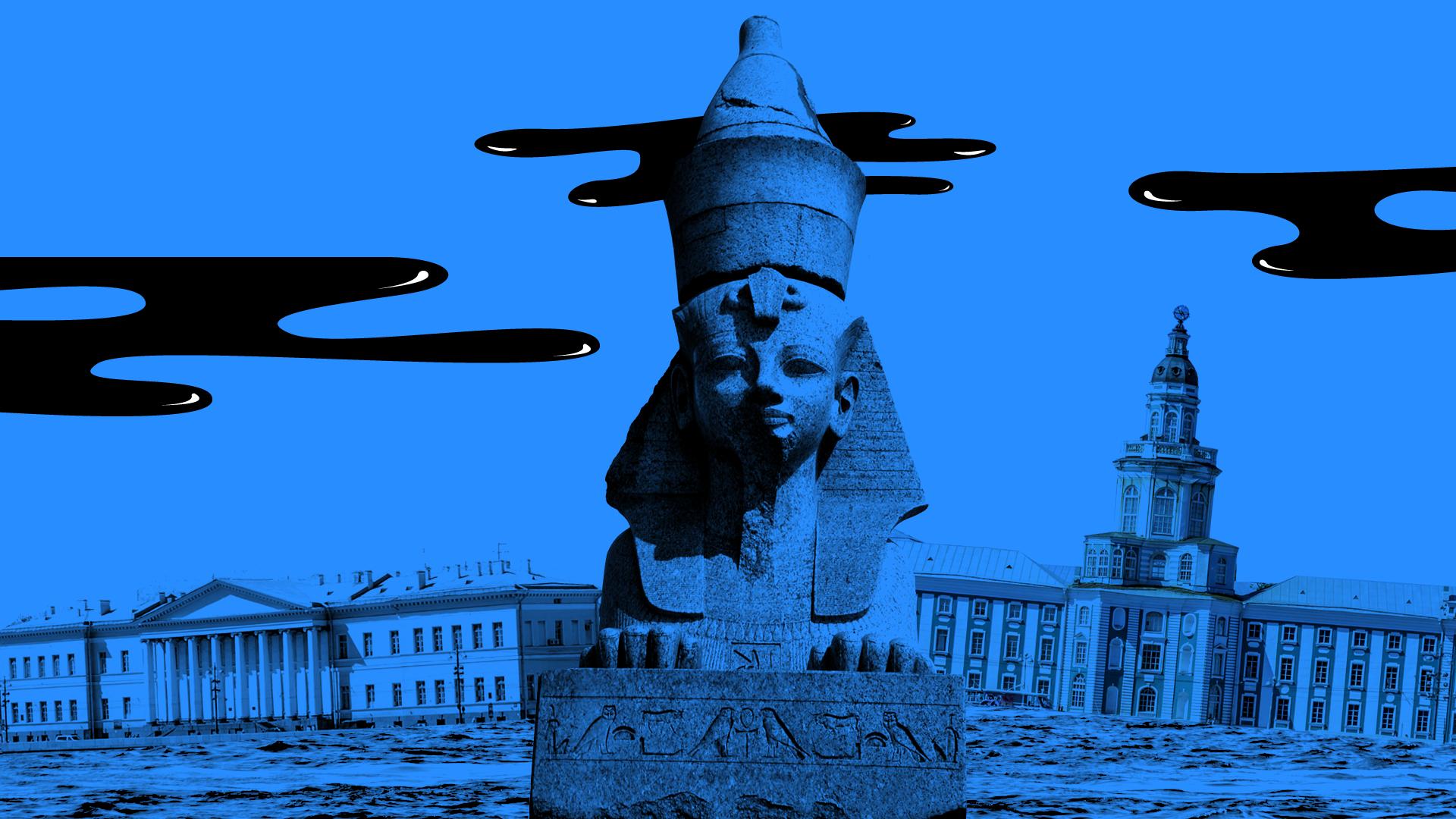 Embaixador russo em Alexandria convenceu tsar a comprar esfinges de Amenófis, mas população acredita que elas sejam criaturas ameaçadoras.