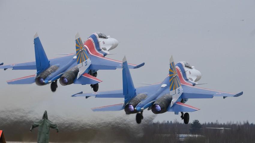 Руски ловац Су-30СМ. Кубинка, Московска област. Русија.