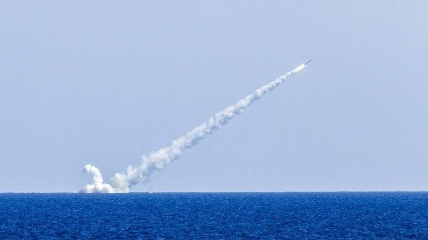 Lansiranje rakete Kalibr s podmornice Veliki Novgorod, 14. 9. 2017.