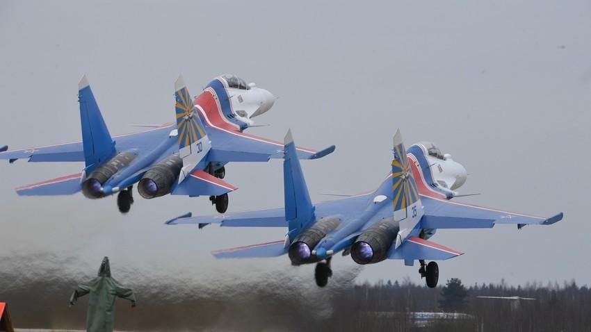 Ruski lovac Su-30SM. Kubinka, Moskovska oblast. Rusija.