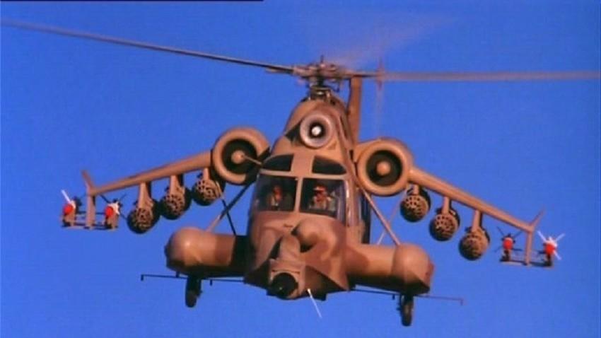 """Кадър от филма """"Червеният скорпион"""" (1988)"""