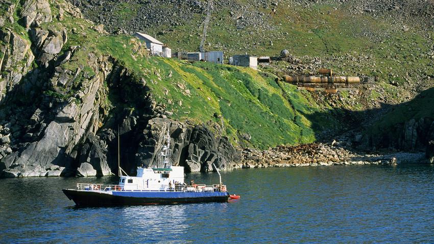 Isla rusa de Diómedes Mayor, Chukotka.