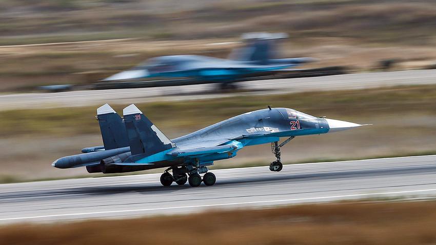 Avión ruso Su-34.