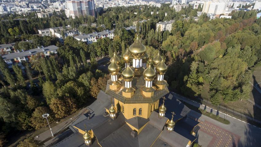 Katedrala svetih mučenic in matere Sofije v Belgorodu, primer ruskega lesenega stavbarstva, Belgorod, Rusija