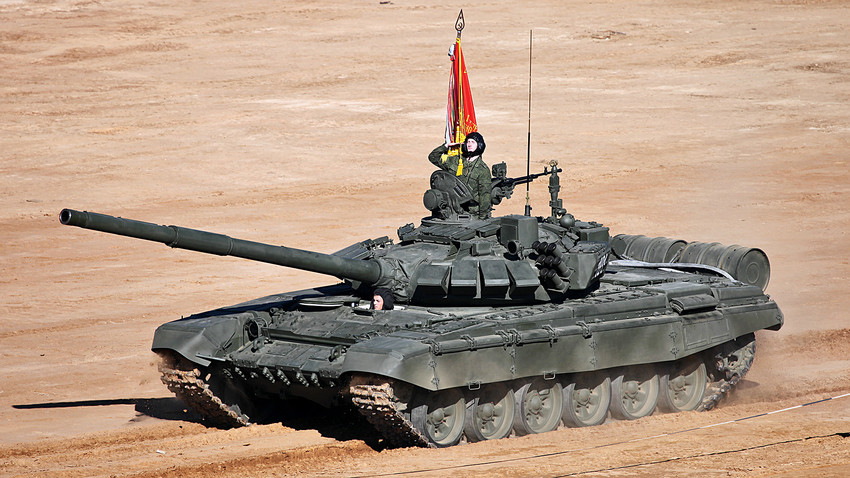 "The latest version of the T-72B3 tank has been updated with a new digital fire control system, ""Relic"" enhanced dynamic protection and a new 1000 horsepower turbodiesel engine."