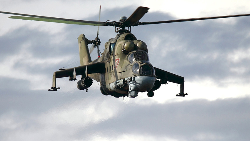 Russian Air Force Mil Mi-24P became the basis for the upcoming model.