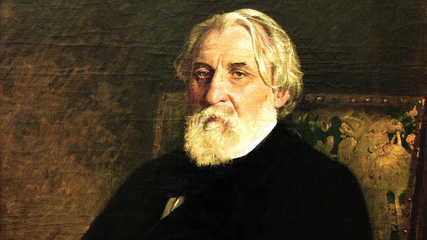 Retrato de Ivan Turguêniev, por Iliá Repin