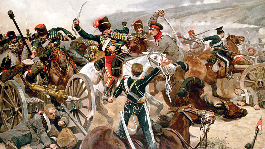 Ричард Кејтон Вудвил помладиит. Напад на лесната коњице, 1897.