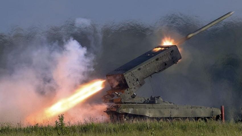 "Večcevni raketomet TOS-1 ""Buratino""."