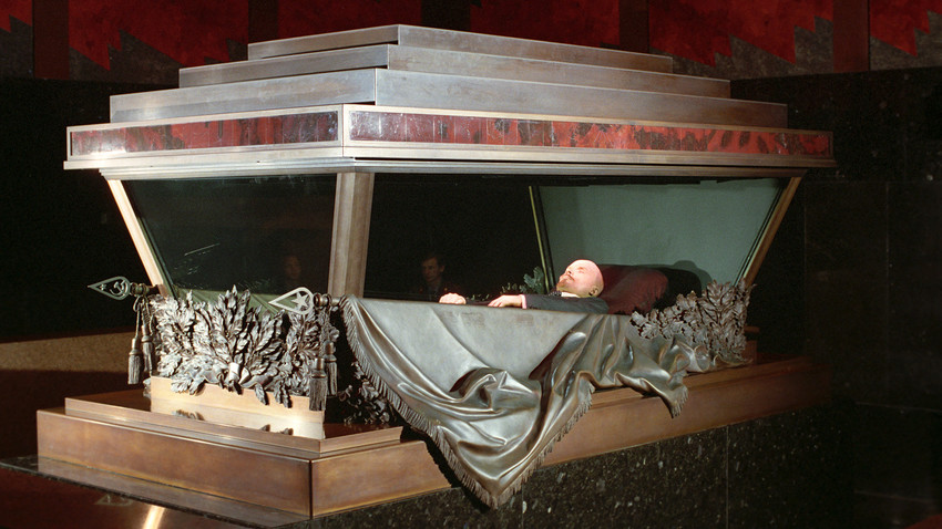 For almost a century, USSR's founder Vladimir Lenin lies dead and still in the Mausoleum on the Red Square