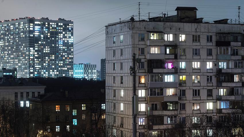 Barrio residencial de Moscú.