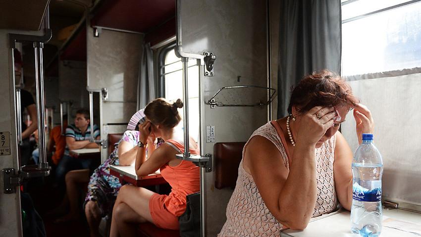Пътници във влака Москва-Симферопол.