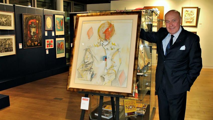 Victor Scherrer présente le tableau de Vladimir Nemoukhine Valet de carreau, 1988