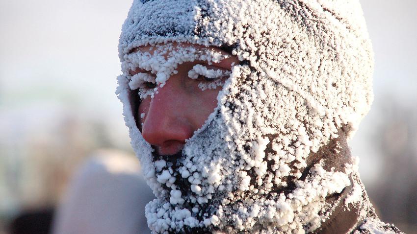 Por vezes, as pessoas no inverno russo ficam assim... Mas nem sempre!
