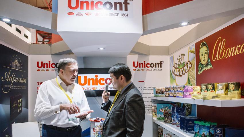 Stan Uniconf pada pameran produk makanan internasional SIAL Interfood di Jakarta.