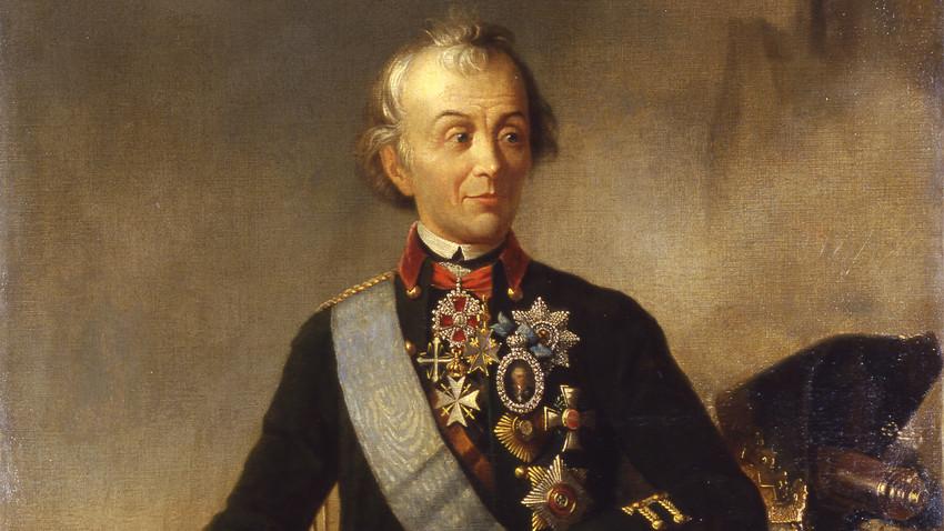 Александар Василевич Суворов (1730-1800), гроф на Римник (1789), принц на Италија (1799), руски полководец, генералисимус (1799). Портрет на платно.
