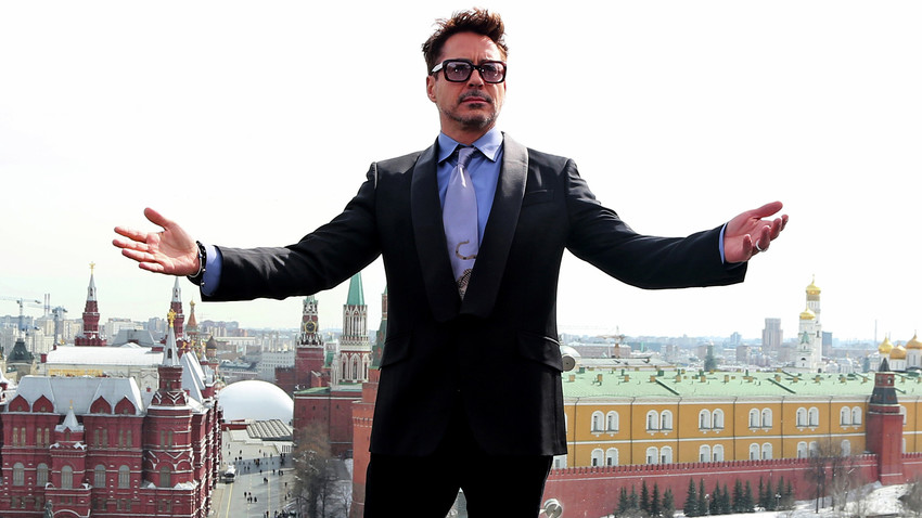 Robert Downey Jr. in Moscow