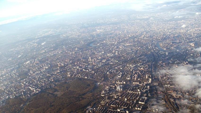 Москва од авион
