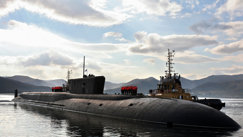 """""""Vladimir Monomah"""" - podmornica klase Borej."""
