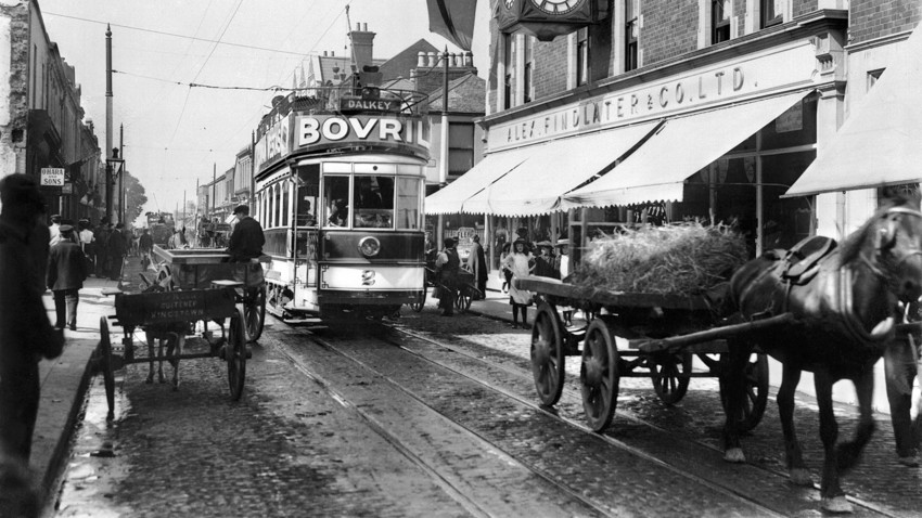 Electric Tram in Dublin, circa 1906
