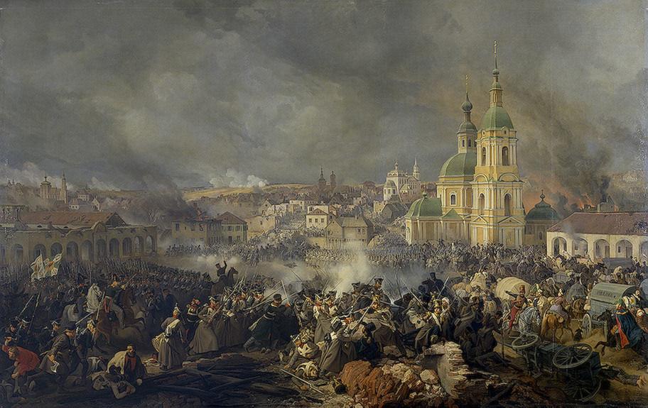 Peter von Hess (1792-1871): Schlacht um Wjasma (1812)