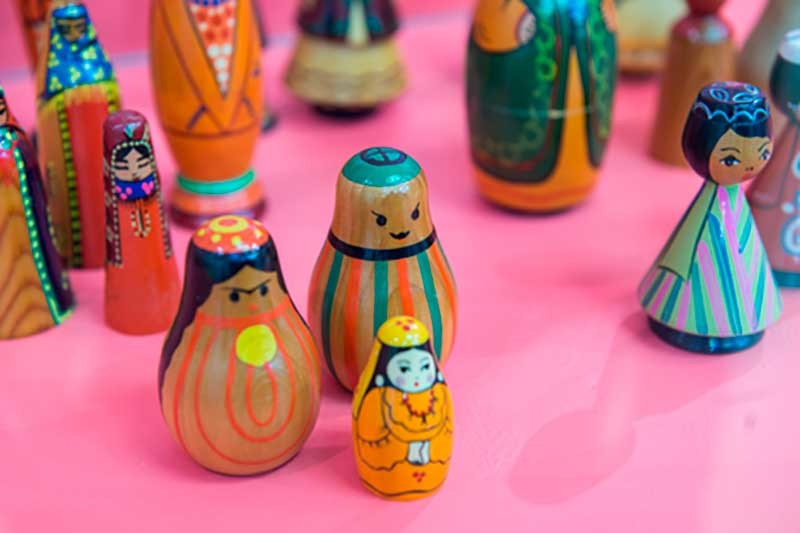 Exhibition of Russian dolls at All-Russian Decorative Art Museum