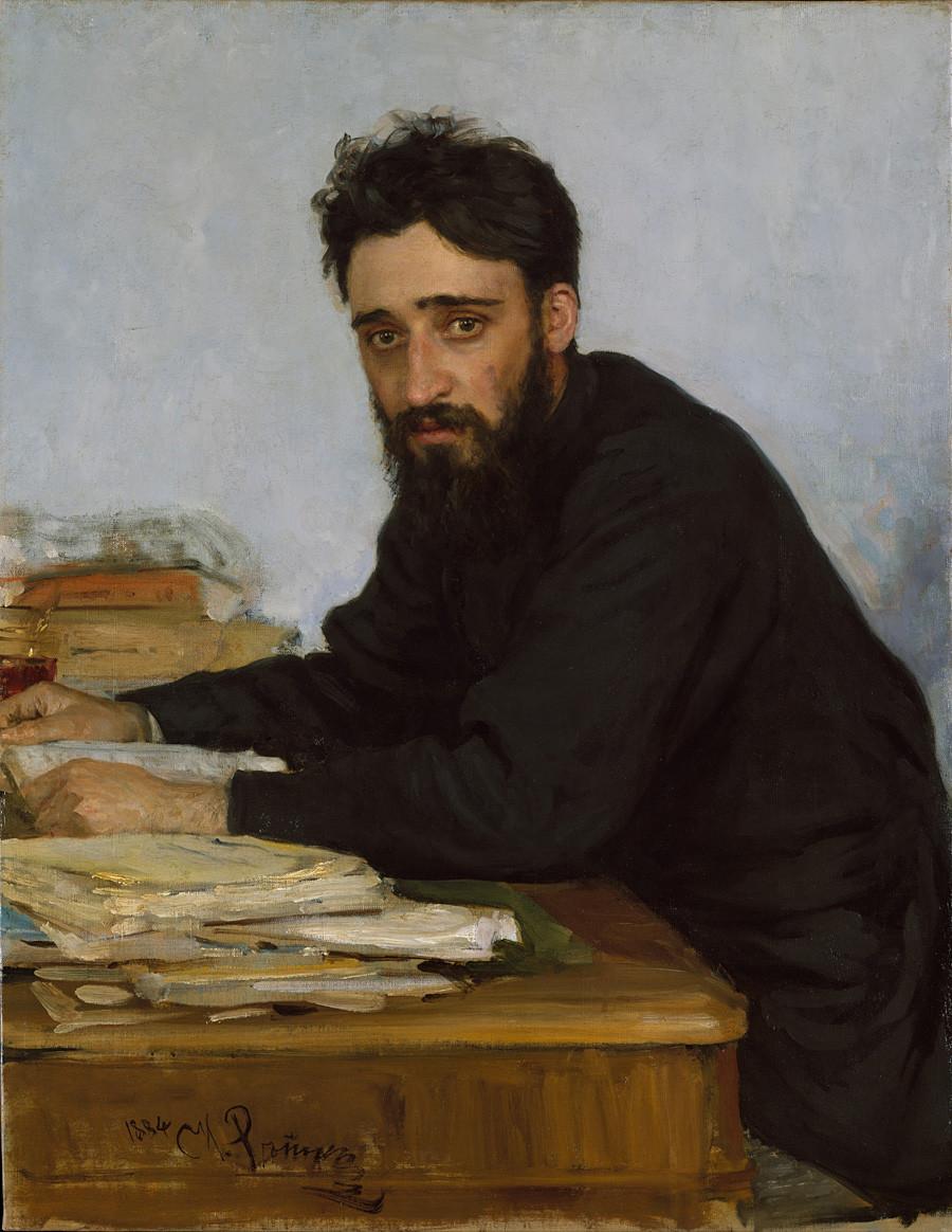 Портрет Гаршина, рад Иље Рјепина
