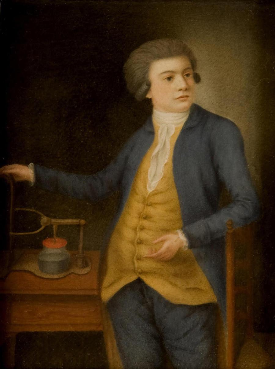 Presunto retrato de Vasili Petrov. Autor desconocido. Finales del siglo XVIII