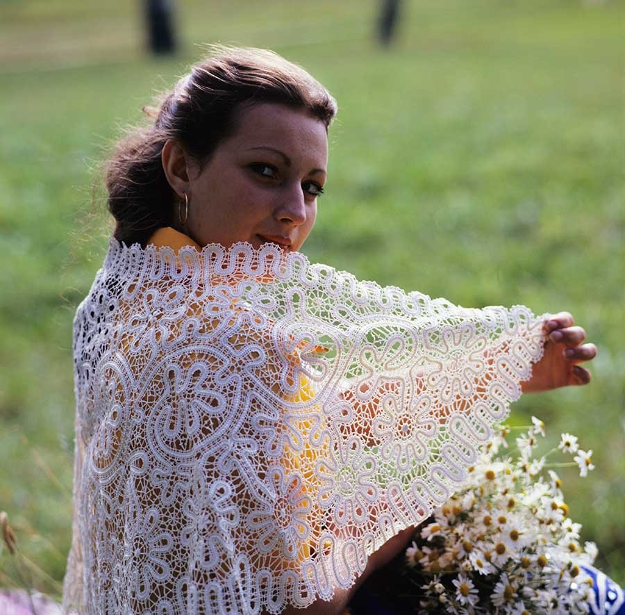 In Russia, lace has always been a fashion must have
