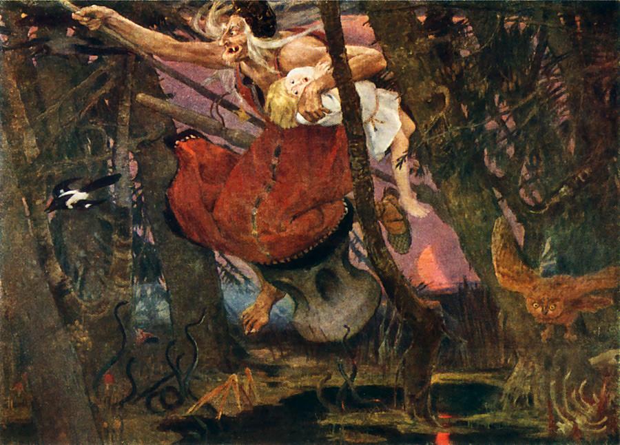 Baba Yagá, obra de Víktor Vasnetsov.