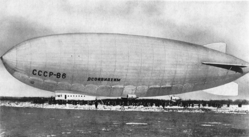 Größtes sowjetisches Luftschiff W-6