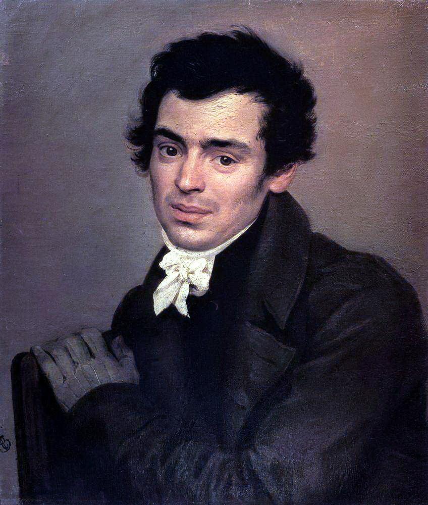 Konstantin Thon in den 1820er-Jahren, Porträt von Karl Pawlowitsch Brjullow