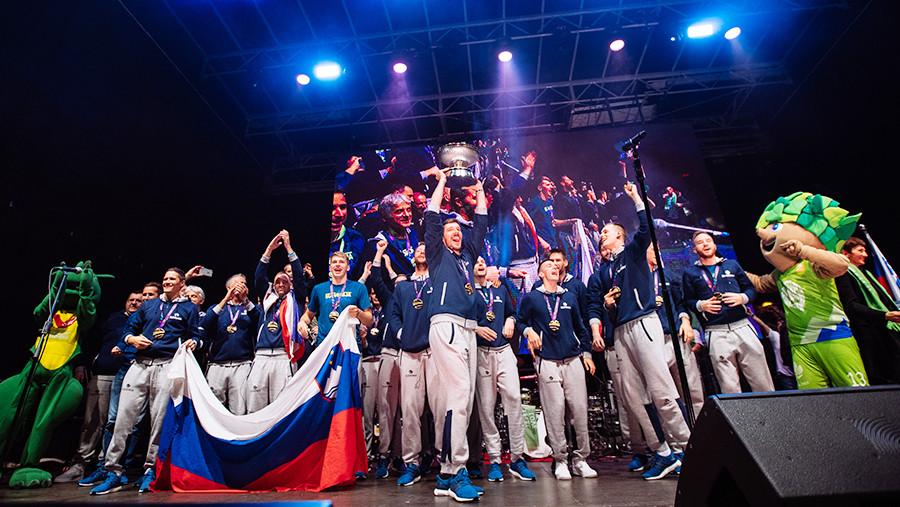 Slovenija slavi naslov evropskih košarkarskih prvakov, Istanbul, september 2017