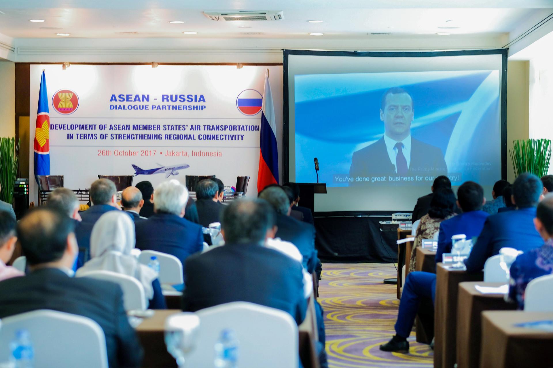Dialog kemitraan ASEAN-Rusia di Hotel Gran Melia, Jakarta.