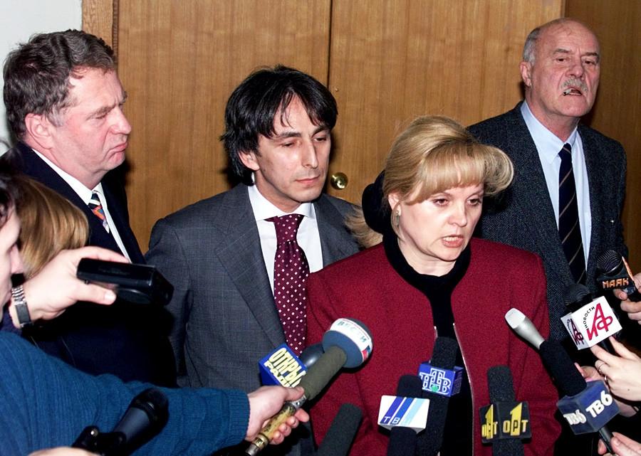 Presidential candidates Vladimir Zhirinovsky, Umar Dzhabrailov, Ella Pamfilova and Stanislav Govorukhin.