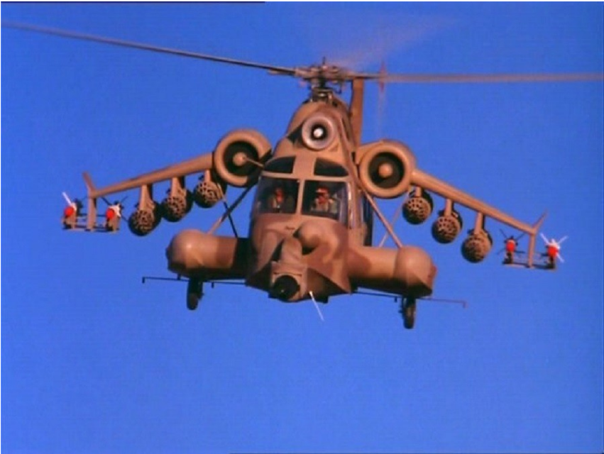 Kader iz filma Rdeči škorpijon.
