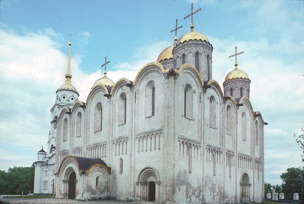 Dormition Cathedral. Southwest view. May 26, 1997.