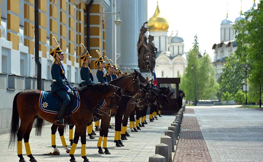 Soldados del Regimiento del Kremlin.