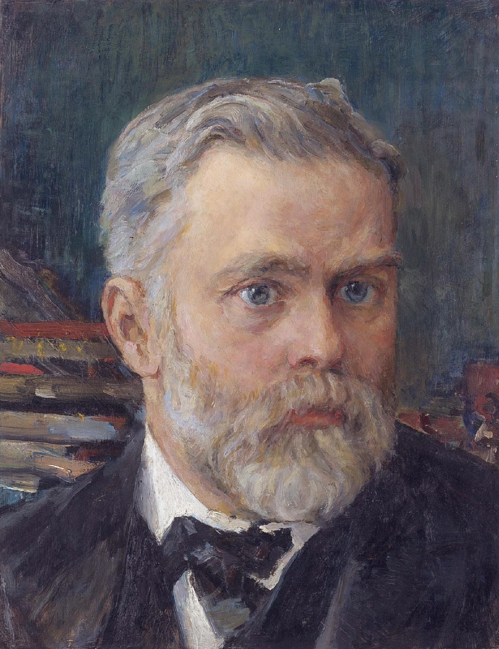 Emanuel Nobel, portrait by famous Russian artist Valentin Serov