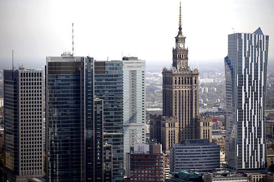 Palacio de Ciencia y Cultura en Varsovia, Polonia,