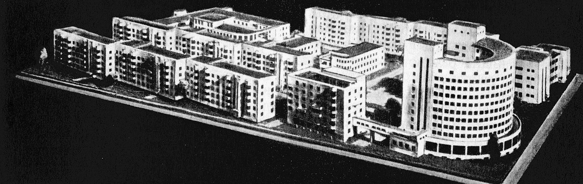 Plan orginal para la Aldea de los Chekistas realizado por Iván Antónov y Veniamín Sokolov, 1929.