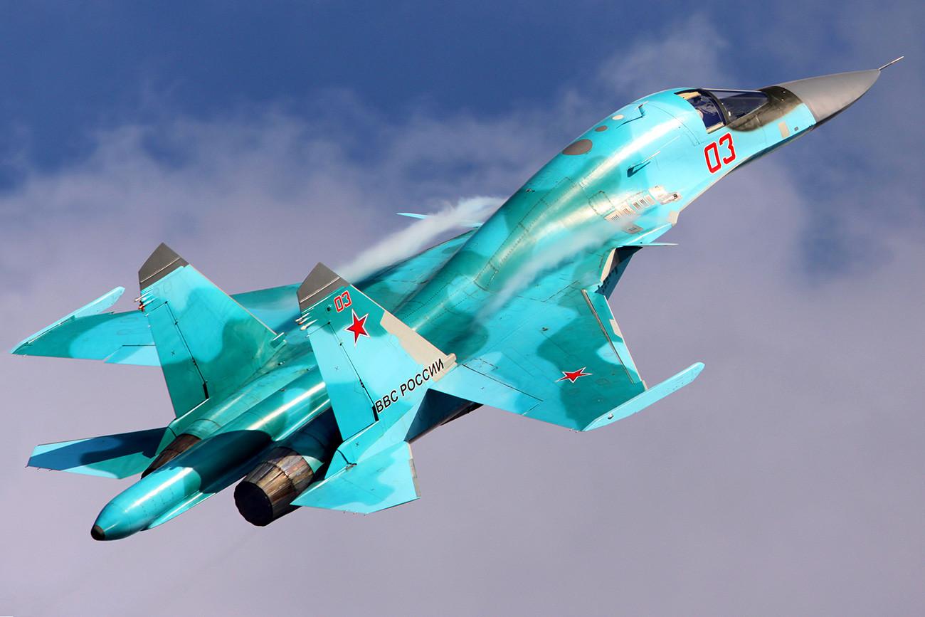 Su-34 de la Fuerza Aerea Rusa.