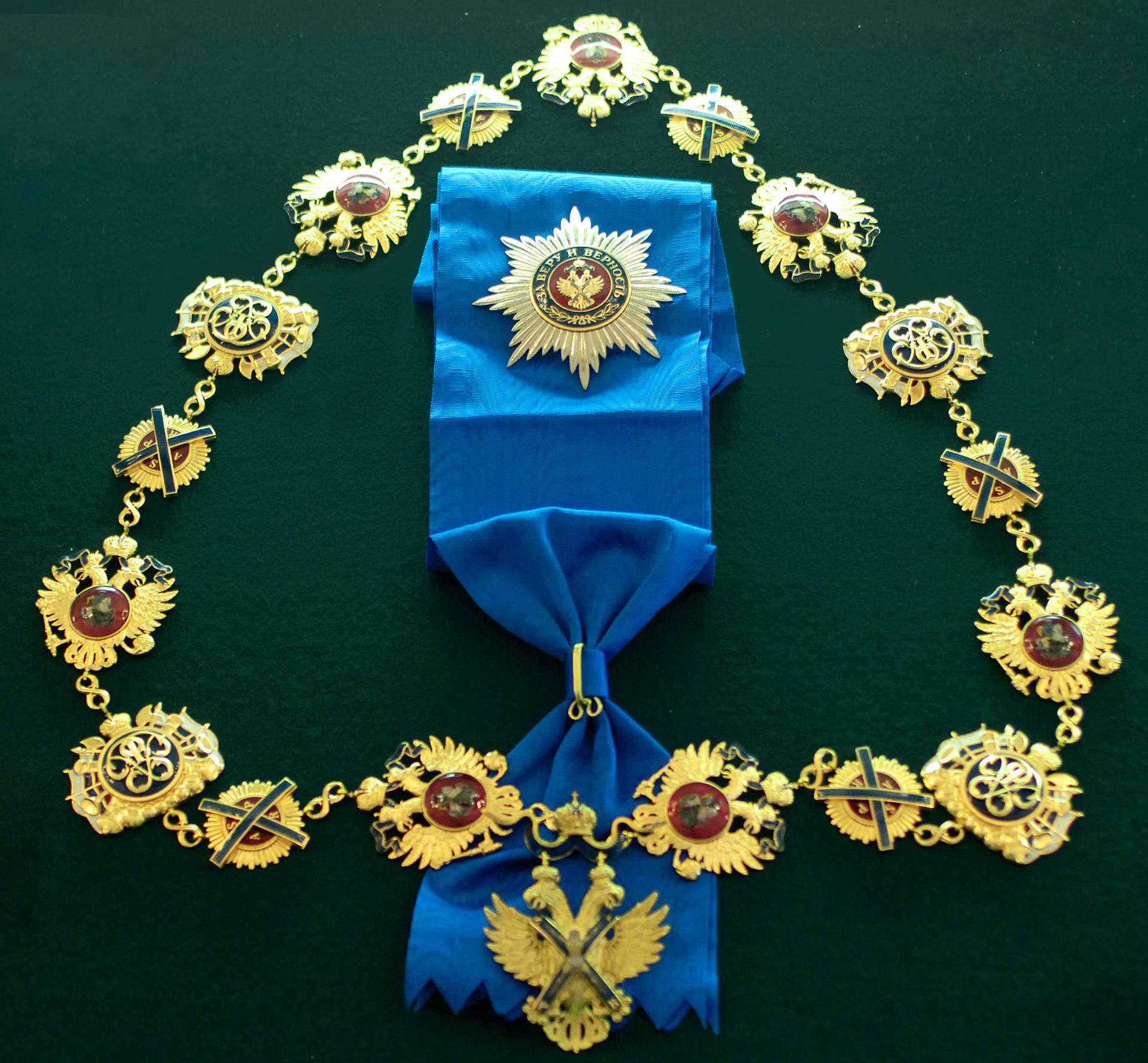 The Order of St. Andrew the Apostle the First-Called, the highest state decoration in Russia
