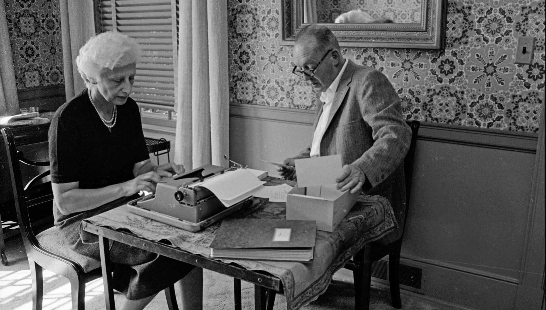 After Nabokov's death, Vera kept spending up to 6 hours a day behind the typewriter, translating his novels