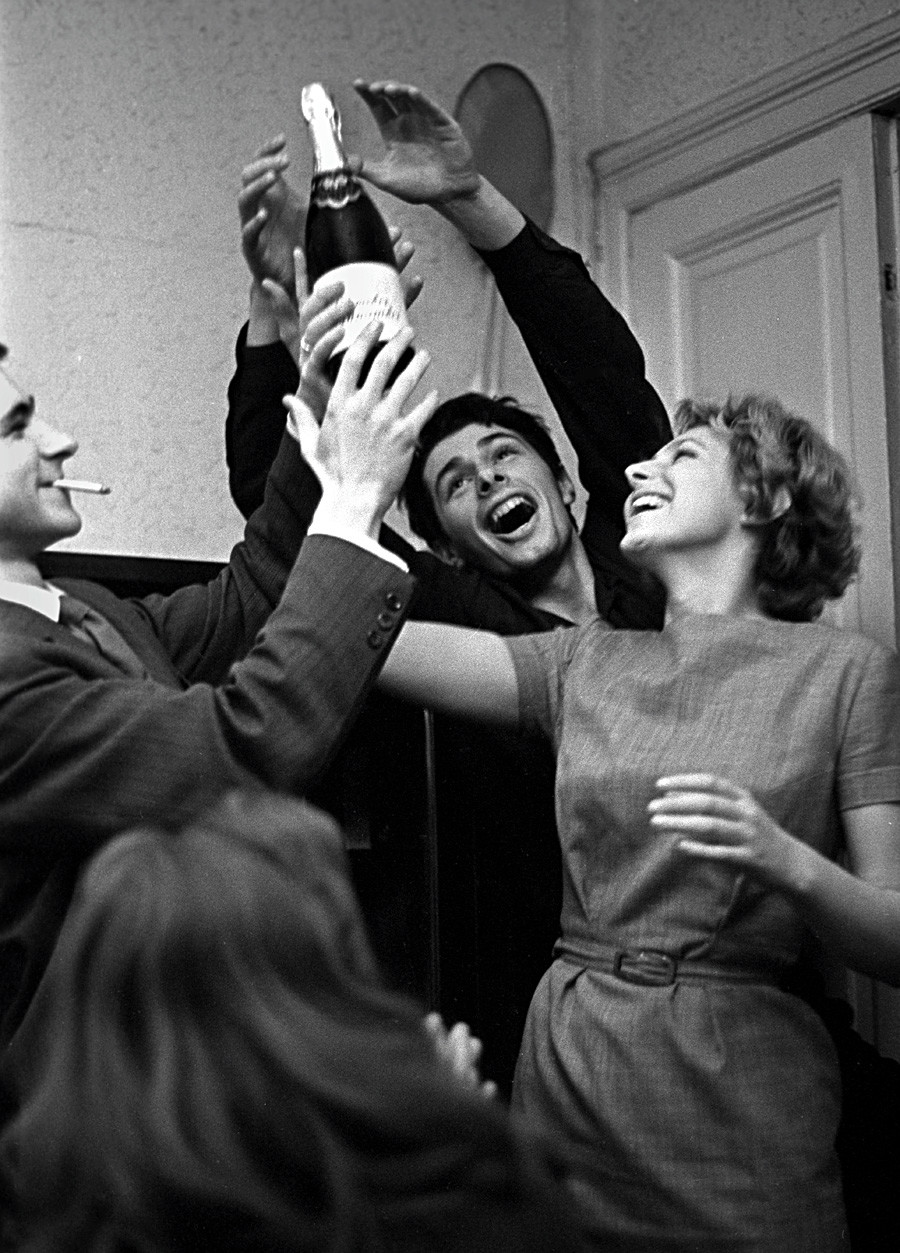 A student party in the Soviet Union