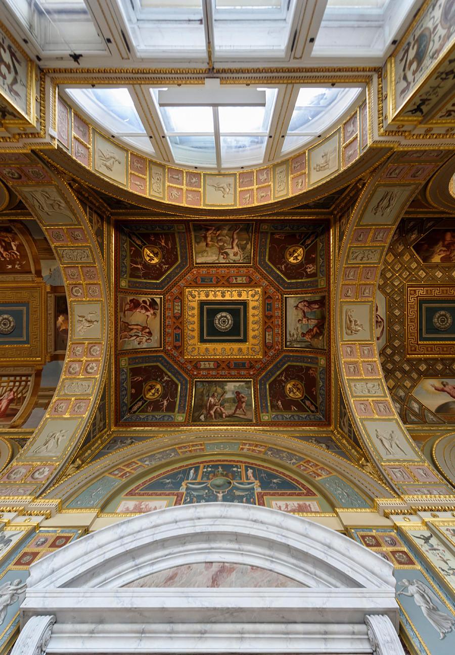Detalle del techo en el Hermitage.