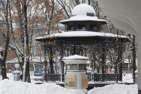 Le jardin de l'Hermitage.