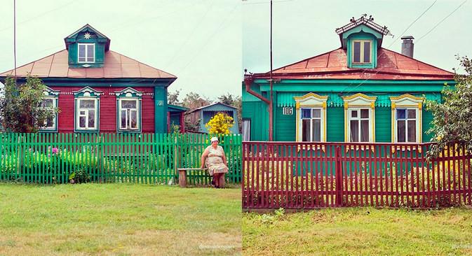 Na ruskem podeželju še danes najdemo ogromno starih ruskih izb. Zadošča že nekaj kilometrov vožnje iz velikih mest.
